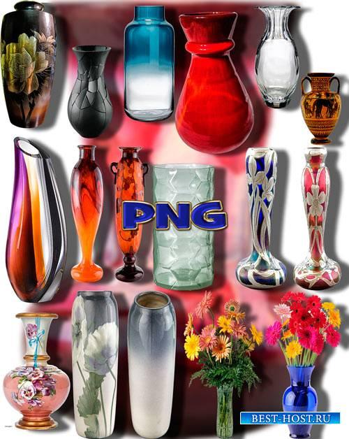 Коллекция Png клип-артов - Красочные вазы