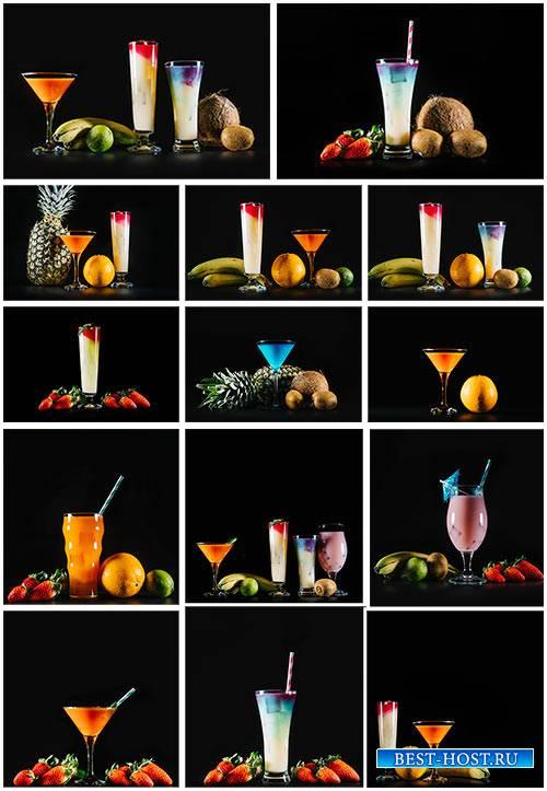 Экзотические фрукты и коктейли - Клипарт / Exotic fruits and cocktails - Clipart