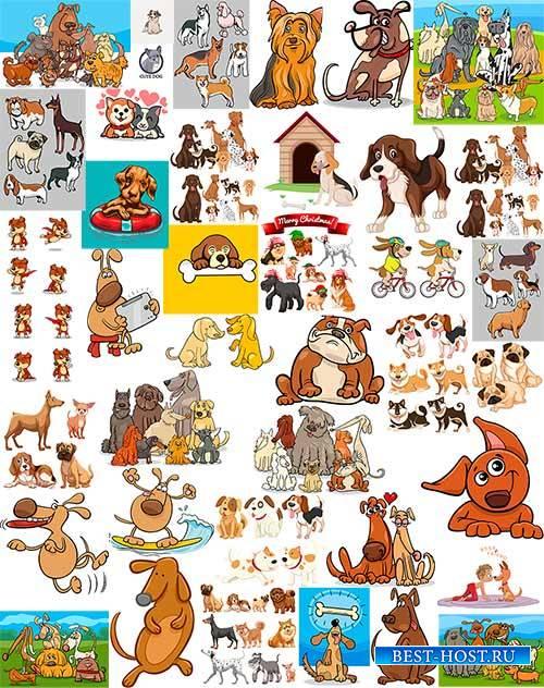 Собаки - Векторный клипарт / Dog - Vector Graphics