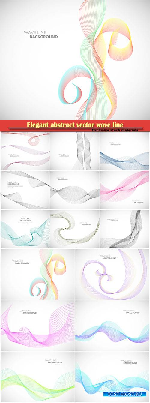 Elegant abstract vector wave line background