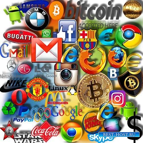Клип-арты для фотошопа на прозрачном фоне - Логотипы компаний и фирм