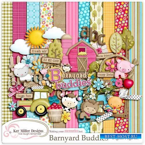 Детский скрап-набор - Barnyard Buddies