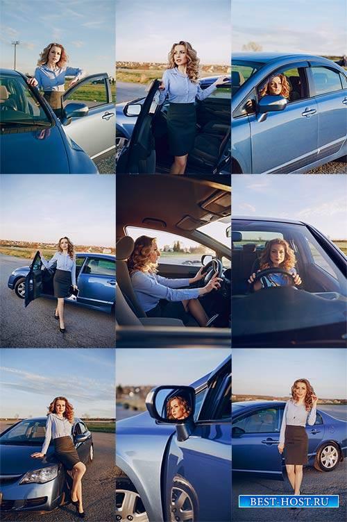 Девушка в автомобиле - Клипарт / Girl in the car - Clipart