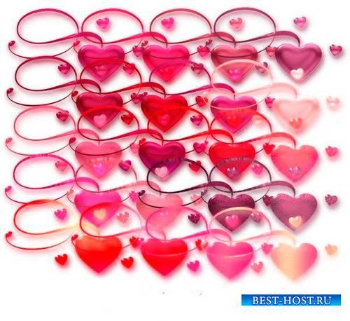 Новые клипарты Png - Сердца любви