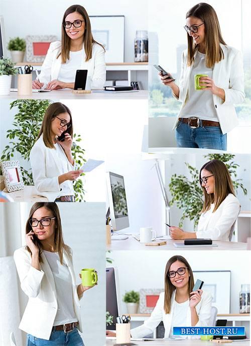 Молодая деловая женщина - Клипарт / Young business woman - Clipart