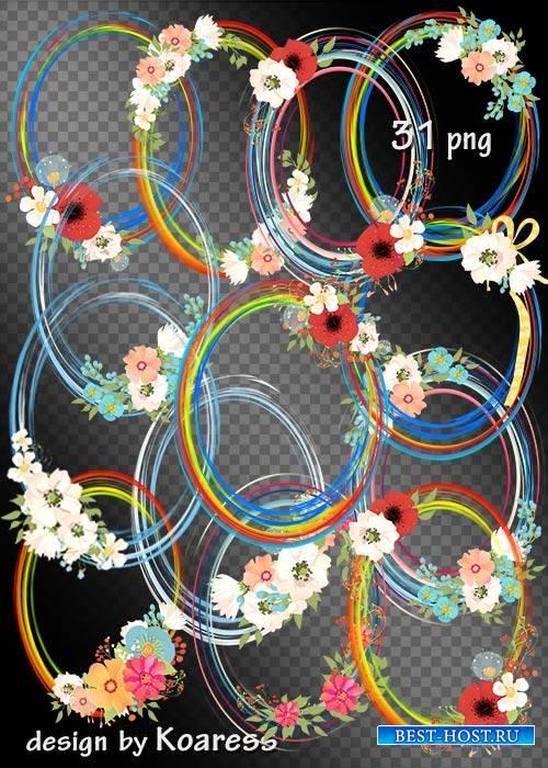 Романтические рамки-вырезы в png с цветами - Такие нежные цветы