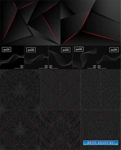 Чёрные фоны в векторе / Black backdrops in vector
