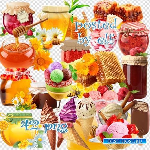 Мёд, варенье, мороженое в png