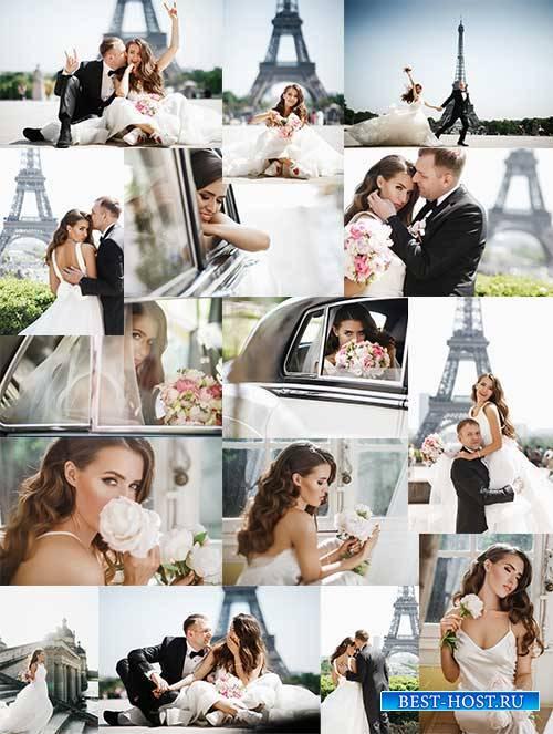 Жених и невеста - Растровый клипарт / Bride and groom - Raster clipart