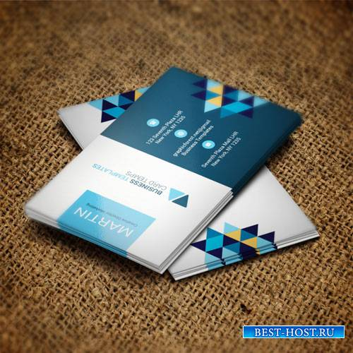 Rhombus - business card templates