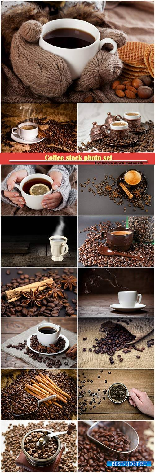 Coffee stock photo set