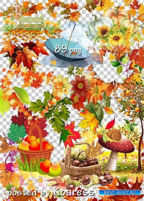 Клипарт png без фона для дизайна - Осенние композиции, листья, элементы пейзажа