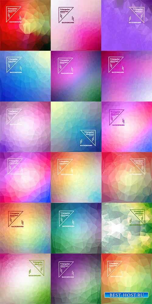 Разноцветные многоугольные фоны в векторе / Multicolored polygonal backgrou ...