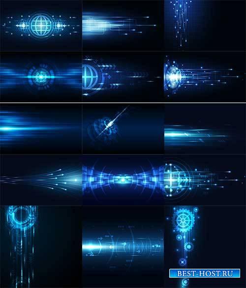 Абстрактные голубые фоны в векторе / Abstract blue backgrounds in vector