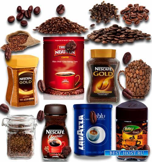 Png Клип-арты - Кофе в зернах и емкостях