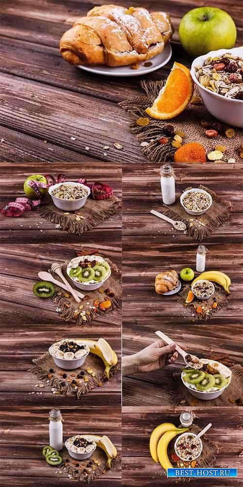 Завтрак - Растровый клипарт / Breakfast - Raster clipart