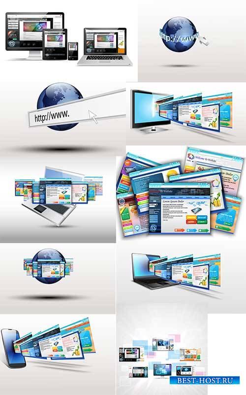 Абстрактный веб-креатив - Векторный клипарт / Abstract web creative - Vector Graphics