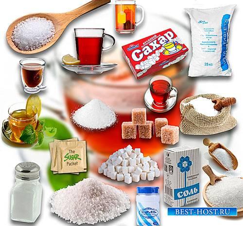 Клипарты картинки - Сахар, соль и чай