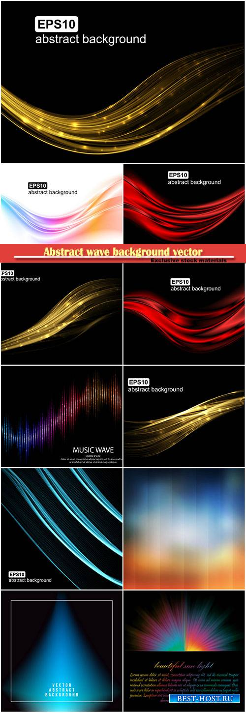 Abstract wave background vector illustration