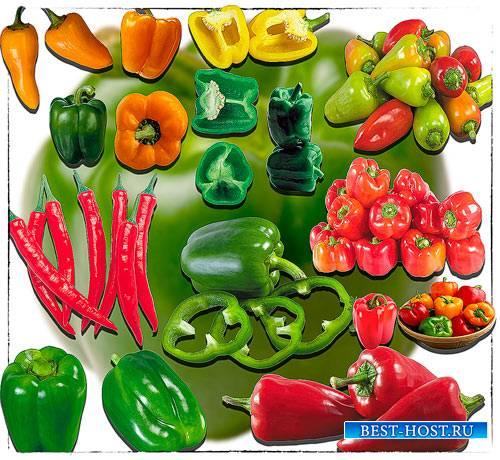 Клипарты png - Красный и зеленый перец