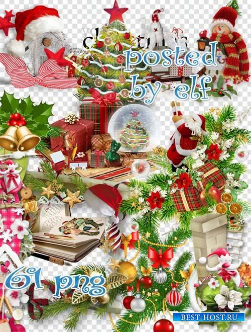 Клипарт в PNG - Пусть удачу принесет славный праздник Новый год