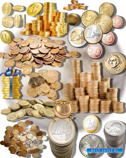 Клип-арты на прозрачном фоне - Монеты