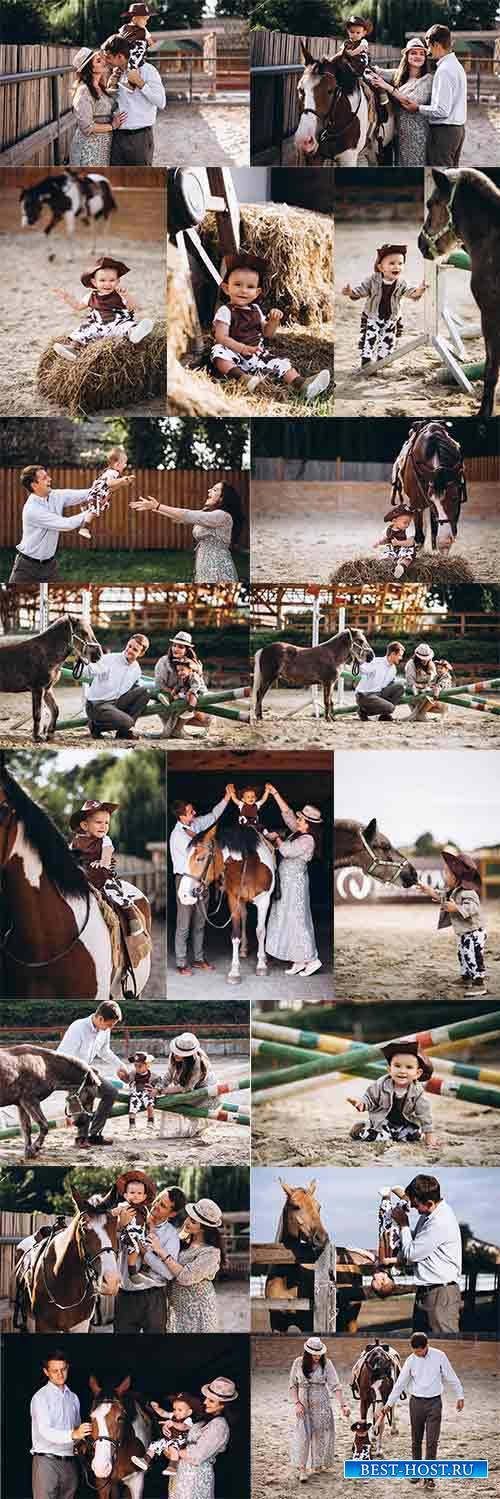 Юный ковбой - Растровый клипарт / Young cowboy - Raster clipart