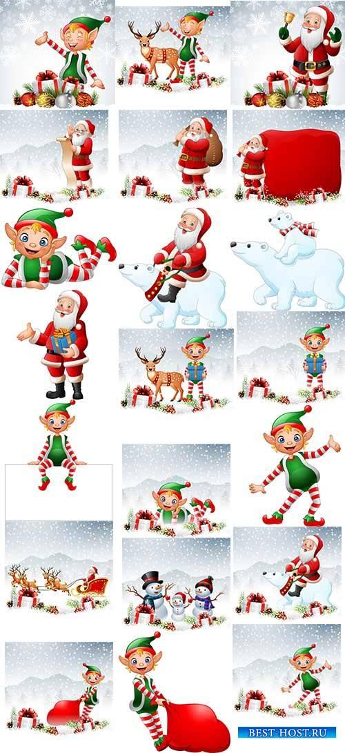 Зимние забавы - 3 - Векторный клипарт / Winter fun - 3 - Vector Graphics