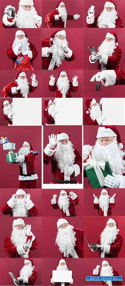 Весельчак Санта Клаус - Клипарт / Merry Santa Claus - Clipart