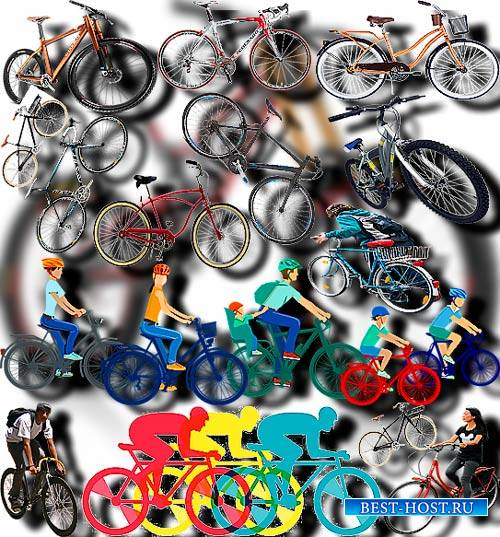 Растровые клип-арты - Велосипеды, байки
