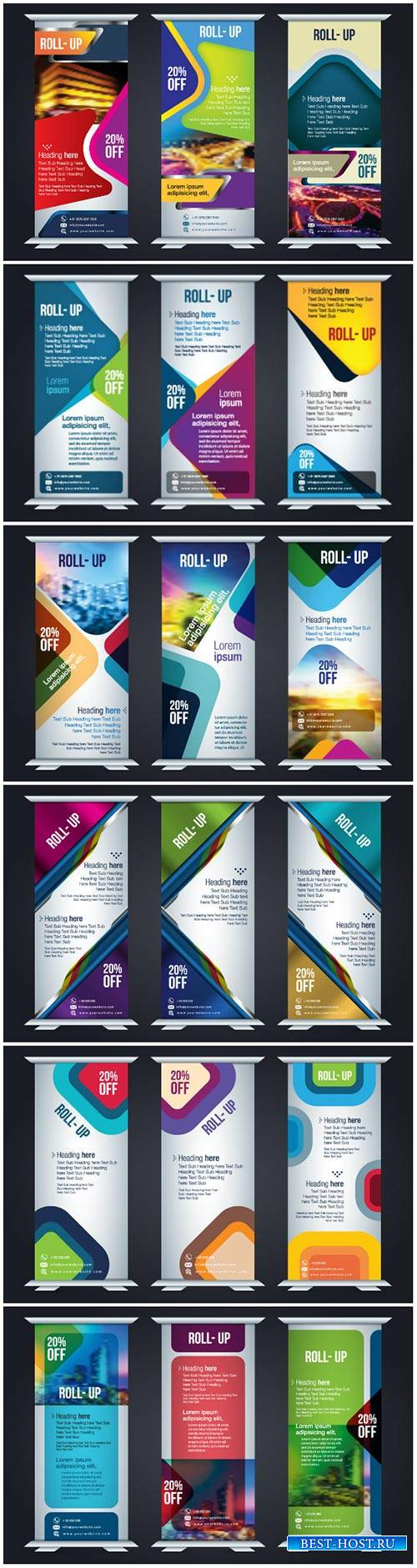 Vertical roll up design template for corporate business