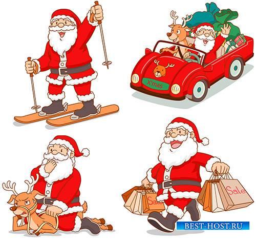 Санта Клаус - Векторный клипарт / Santa Claus - Vector Graphics