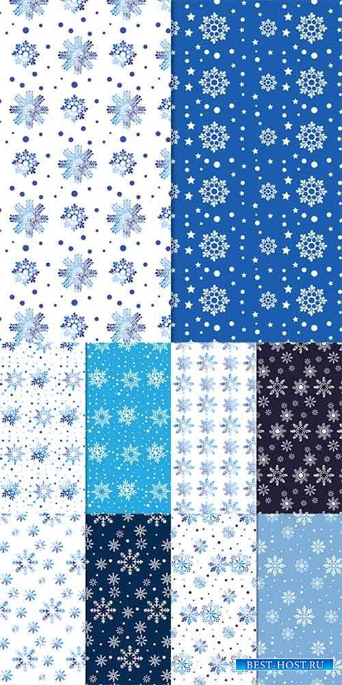 Зимние фоны в векторе / Winter backgrounds in vector