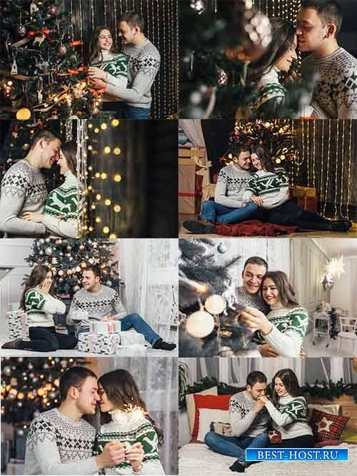 Вечер у ёлки - Растровый клипарт / Christmas tree evening - Raster clipart