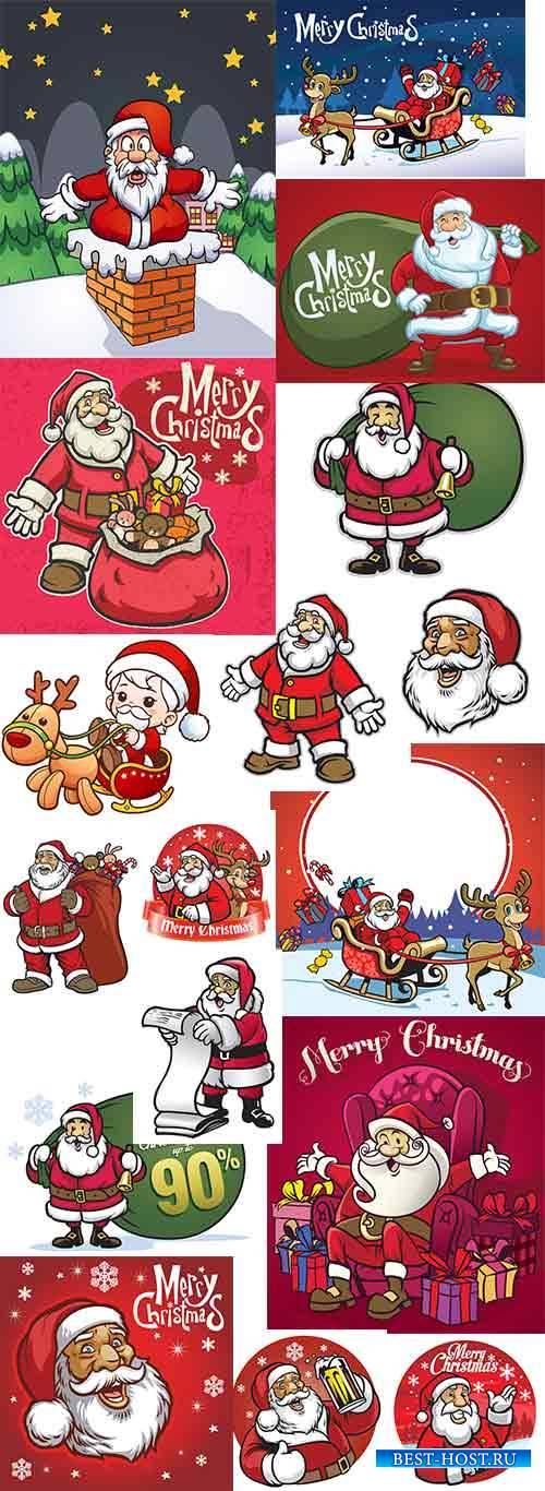 Санта Клаус в векторе - 2 / Santa Claus in vector - 2