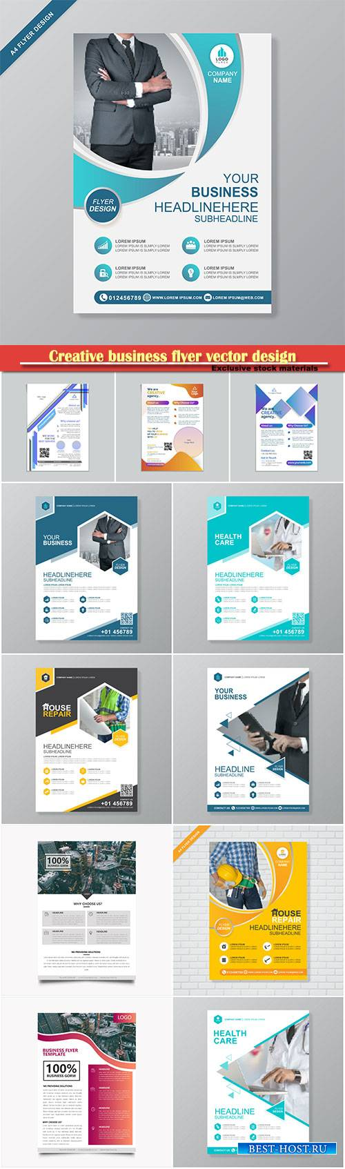 Creative business flyer vector design, corporate template layout presentati ...