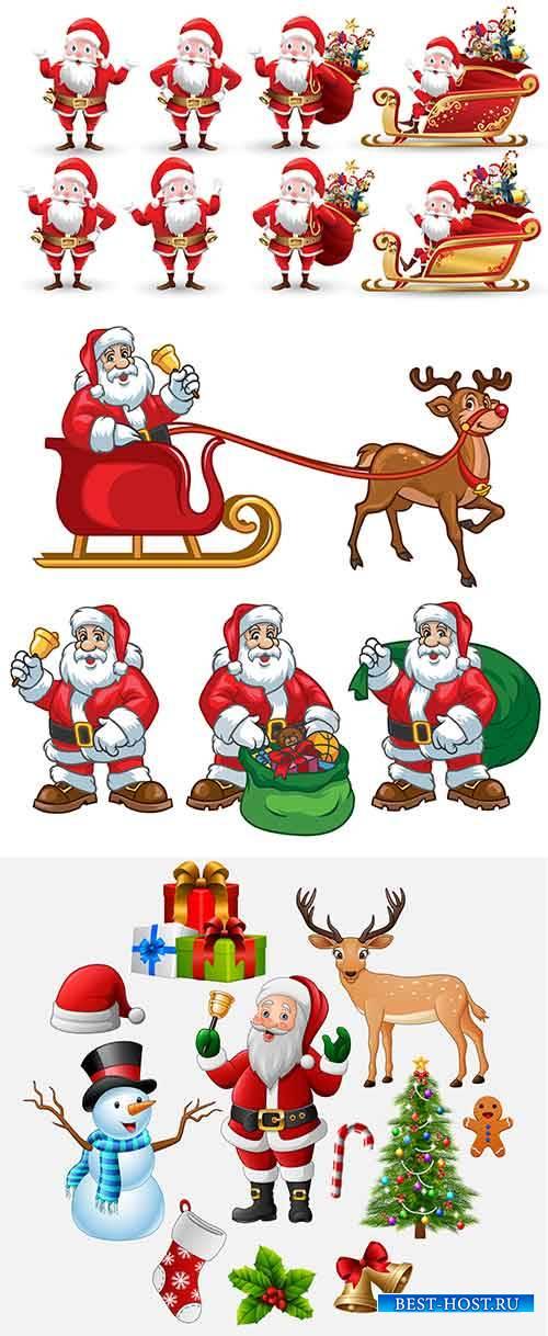 Санта Клаус в векторе - 3 / Santa Claus in vector - 3