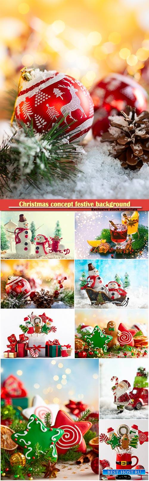Christmas concept festive background