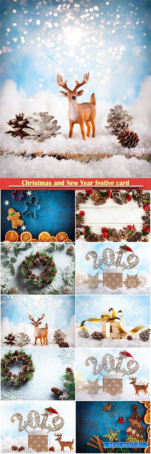 Christmas and New Year festive card