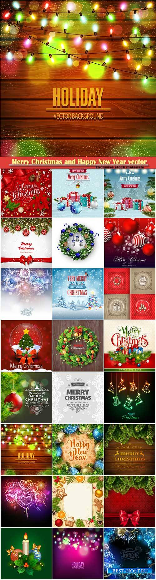 Merry Christmas and Happy New Year vector design # 19