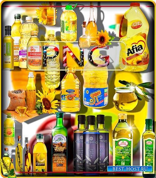 Новые клип-арты Png - Подсолнечное и оливковое масло