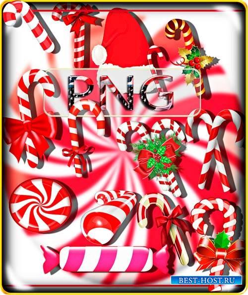 Png Клипарты - Новогодние сладости