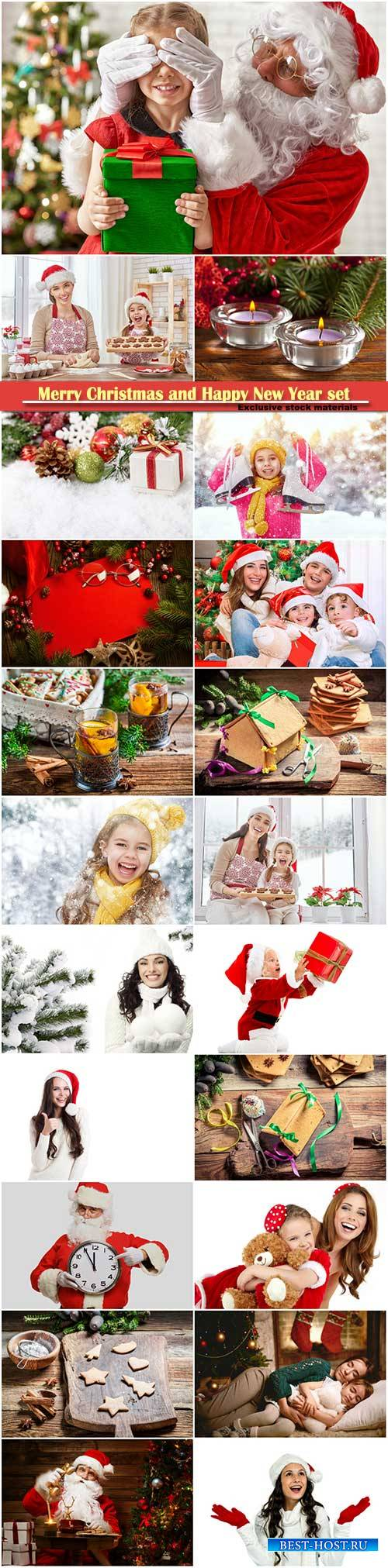 Merry Christmas and Happy New Year stock set # 9
