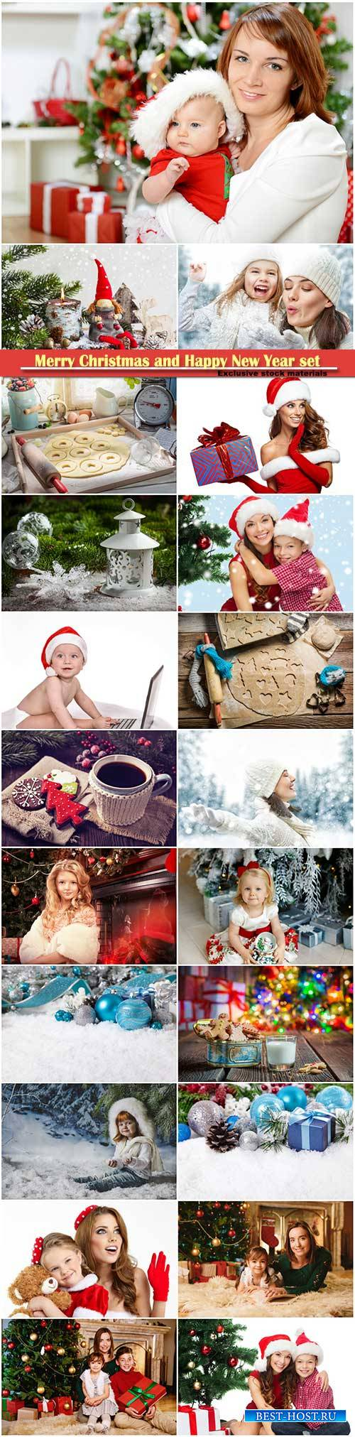 Merry Christmas and Happy New Year stock set # 2