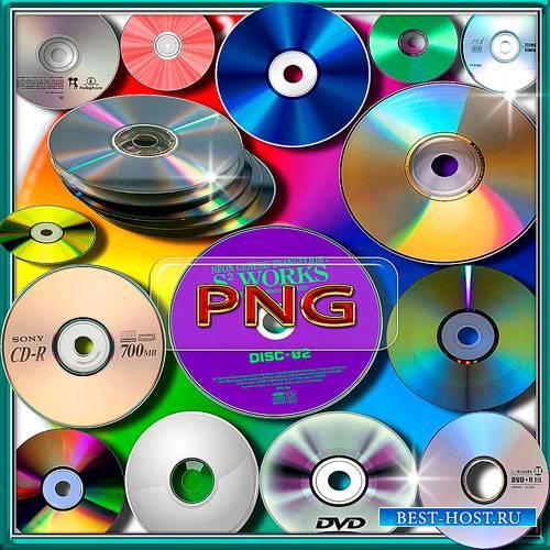 Клипарты png без фона - Dvd и cd диски