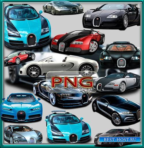 Клипарты на прозрачном фоне - Bugatti