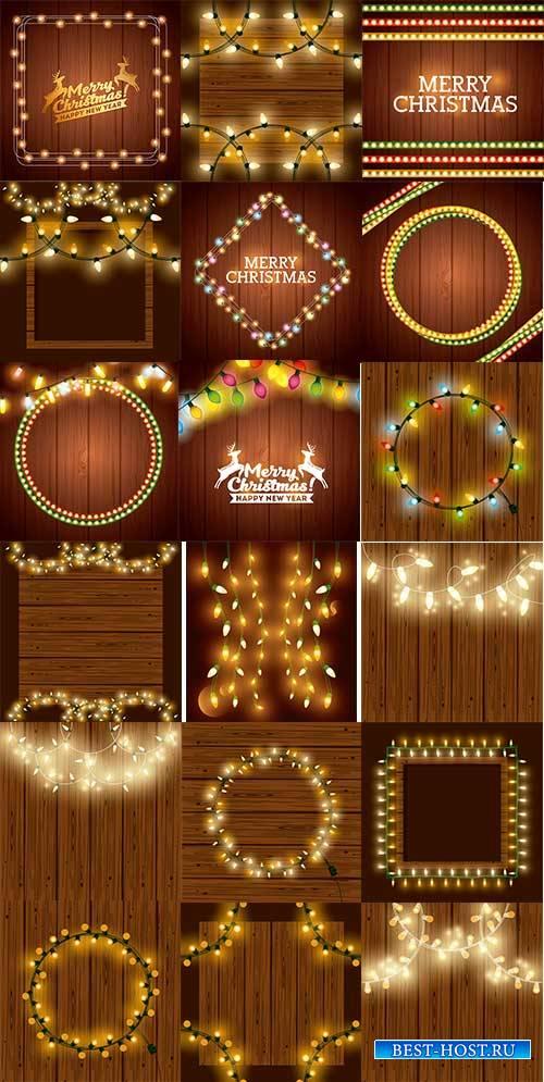 Новогодние фоны - 20 - Векторный клипарт / Christmas backgrounds -20 - Vect ...