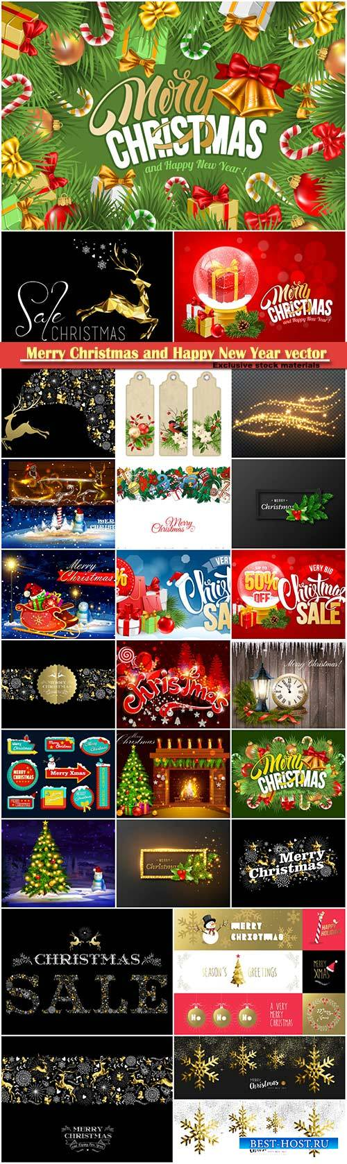 Merry Christmas and Happy New Year vector design # 35