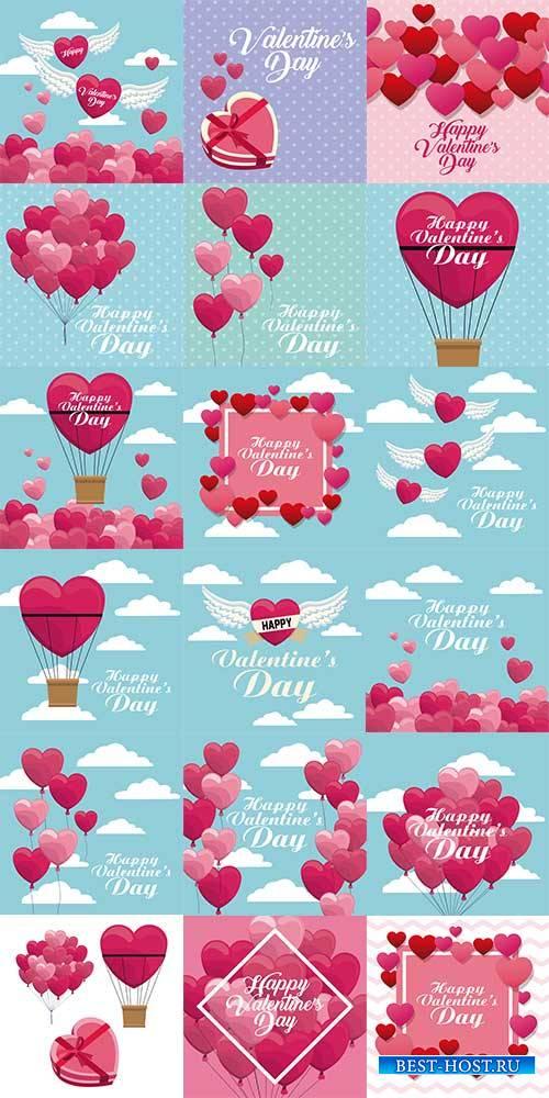 День влюблённых - Векторный клипарт / Valentine's Day - Vector Graphics