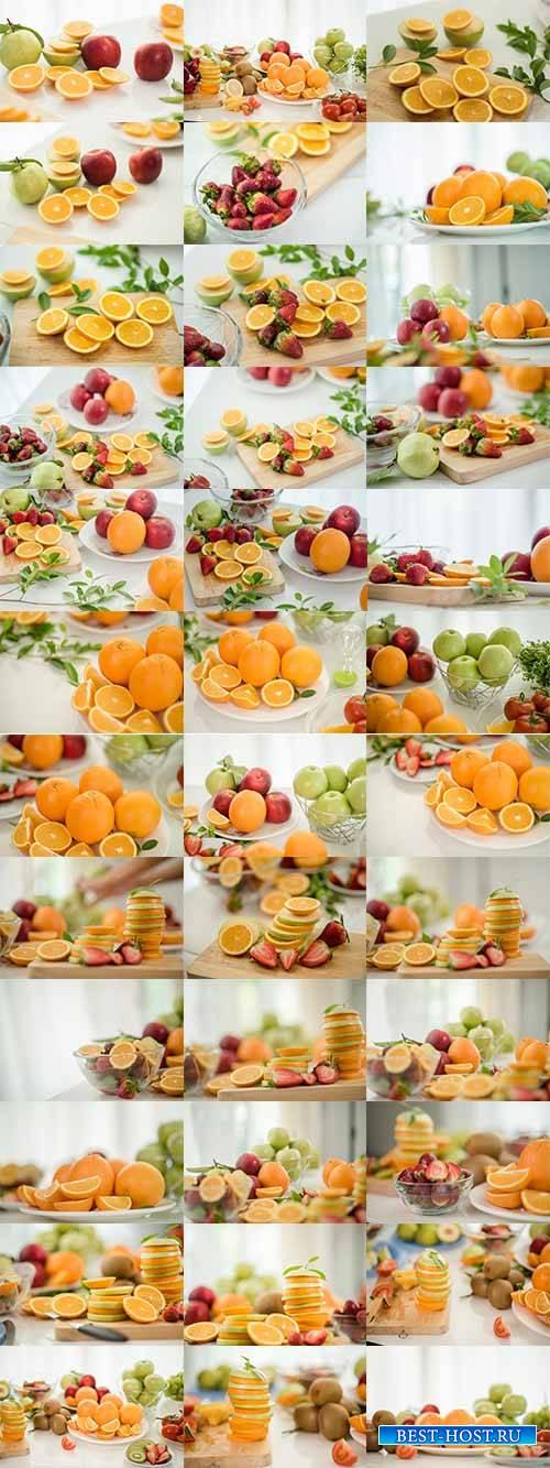 Фруктовый фрэш - Растровый клипарт / Fruit Fresh - Raster clipart